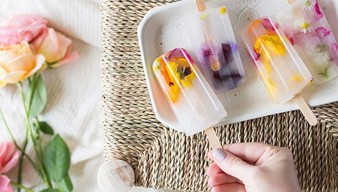 edible flowers popsicle