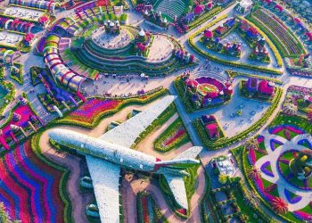 emirates flower garden in Dubai