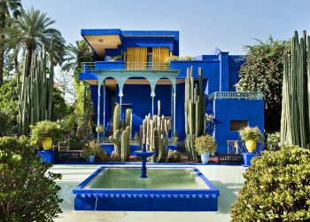 Blue building of Jardin Majorelle