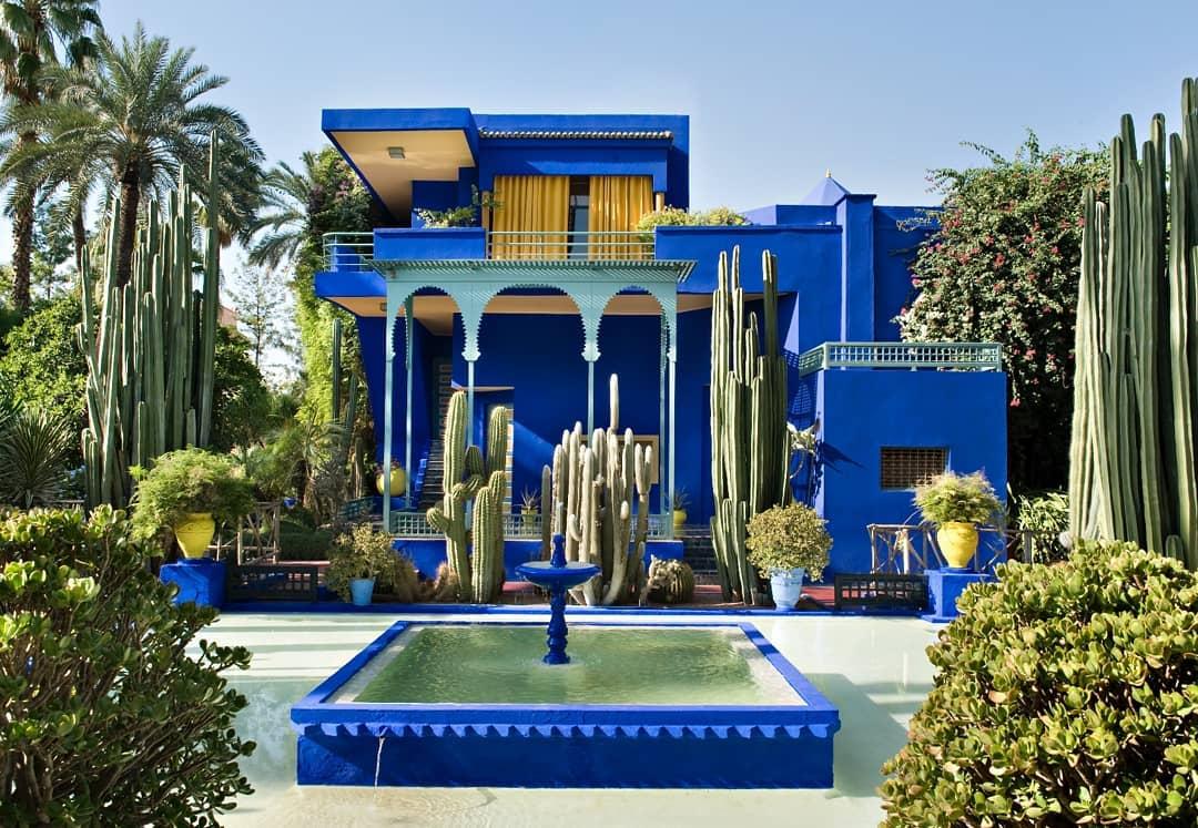 Blue building of Jardin Majorelle
