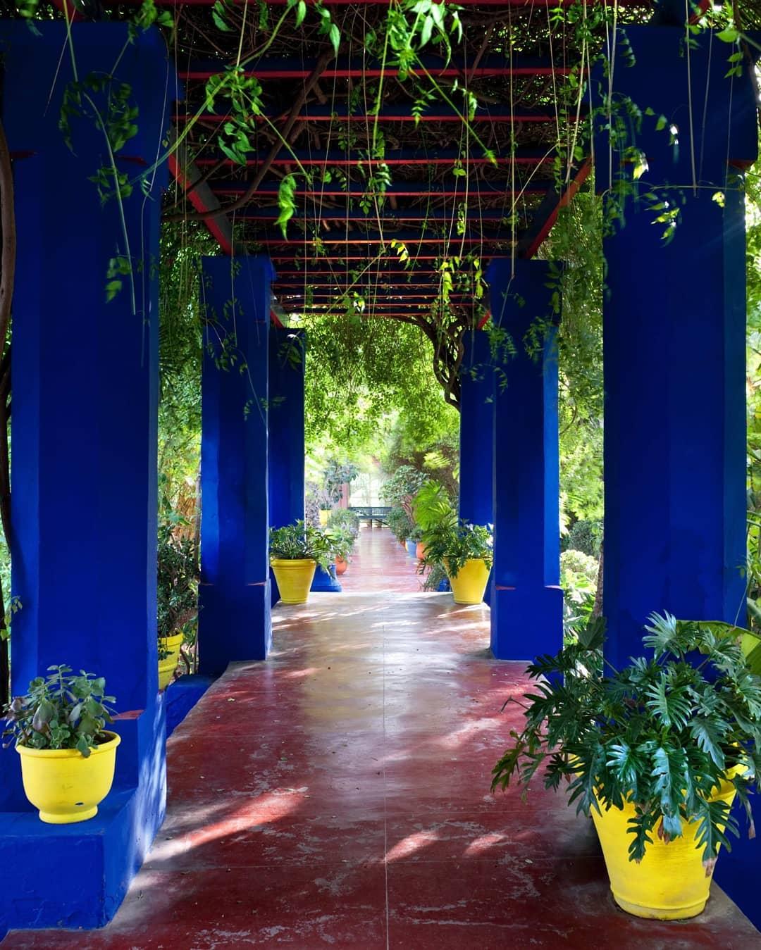 blue columns of Jardin Majorelle