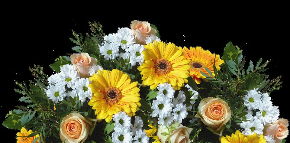 triangular arrangement sunflowers