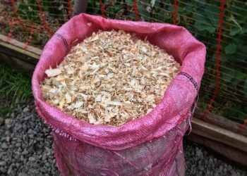 a bag of sawdust
