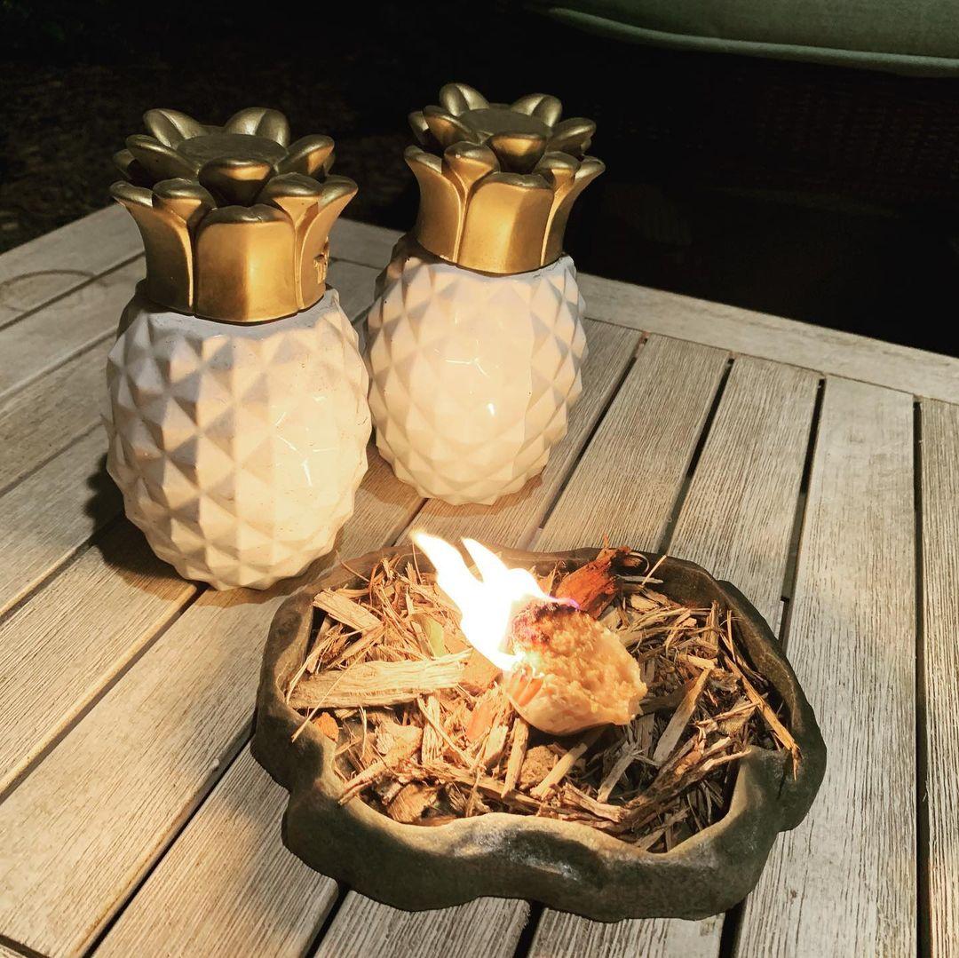 sawdust in ashtray