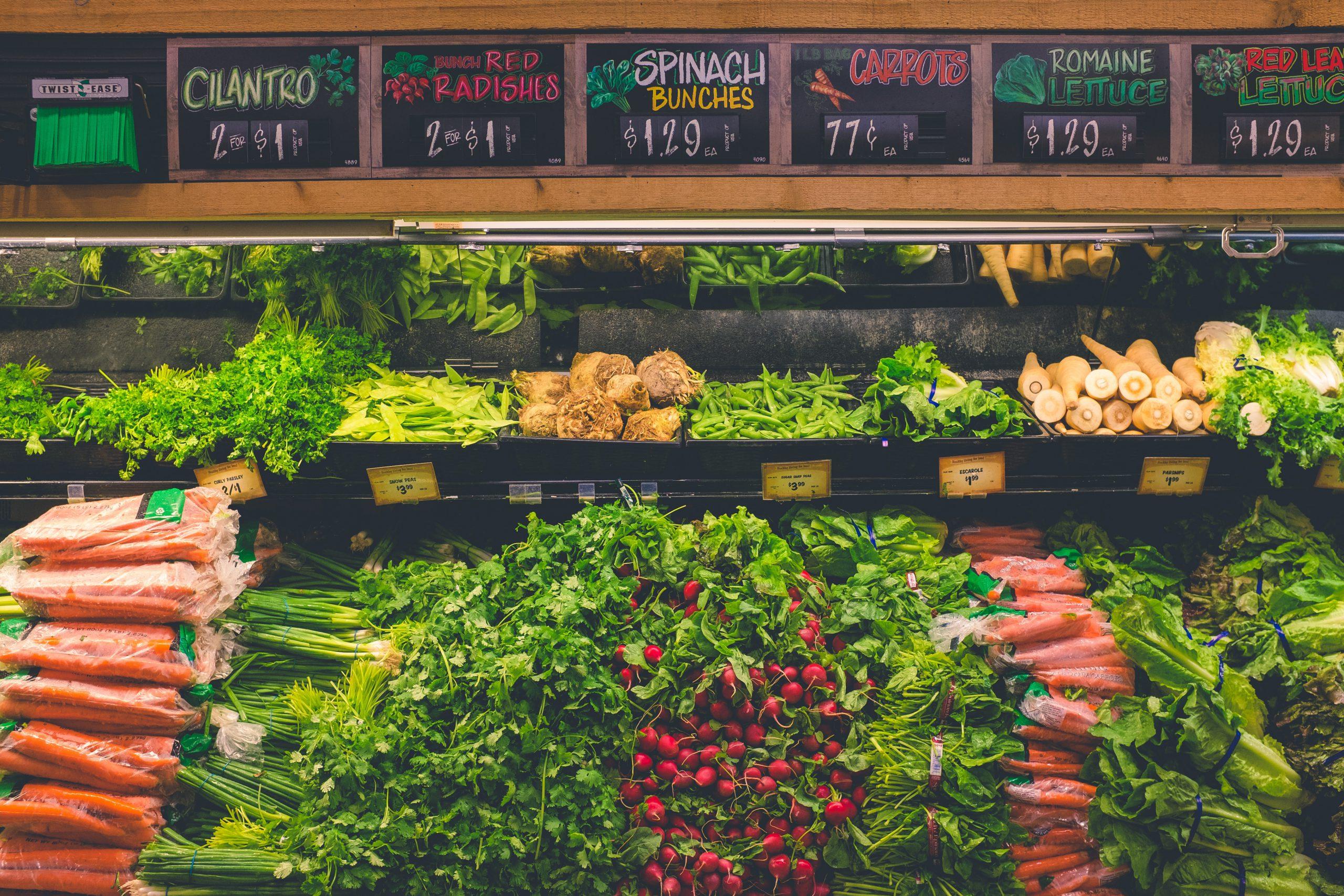 grocery vegetable aisle